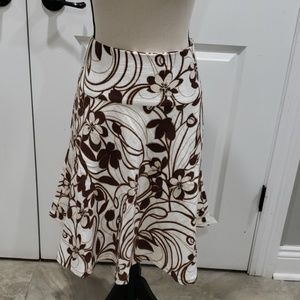 Brown floral skirt with beading